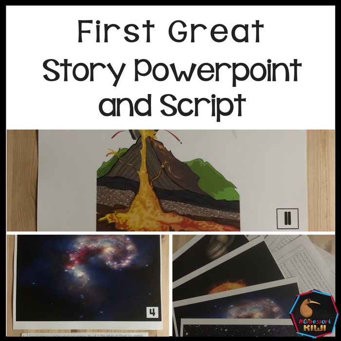 Montessori First Great Story Script and Powerpoint - montessorikiwi