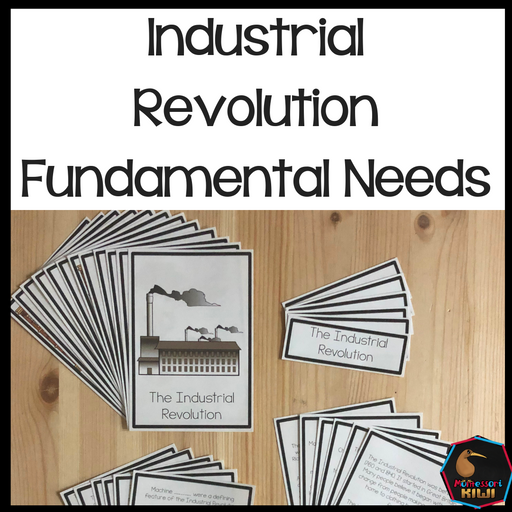 Fundamental Needs Industrial Revolution Great Britain - montessorikiwi