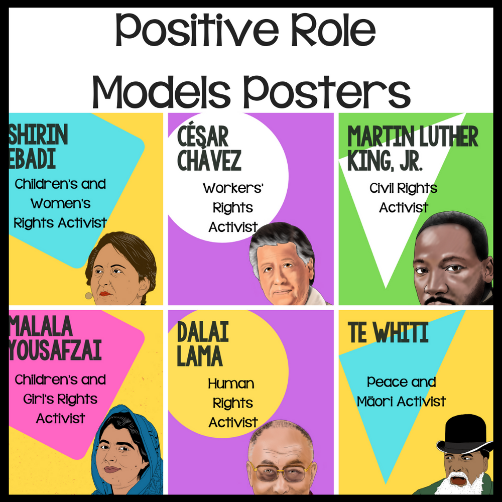 Positive Role Models Posters - montessorikiwi