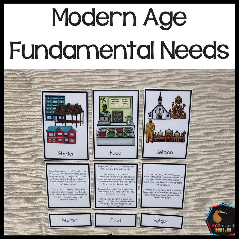 Fundamental Needs Modern Times - montessorikiwi