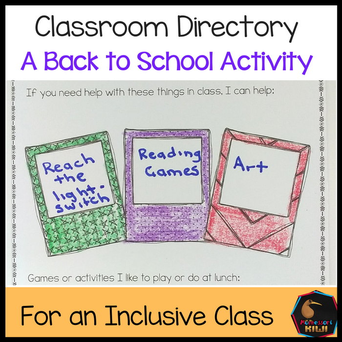 Classroom Directory (Back to School) - montessorikiwi
