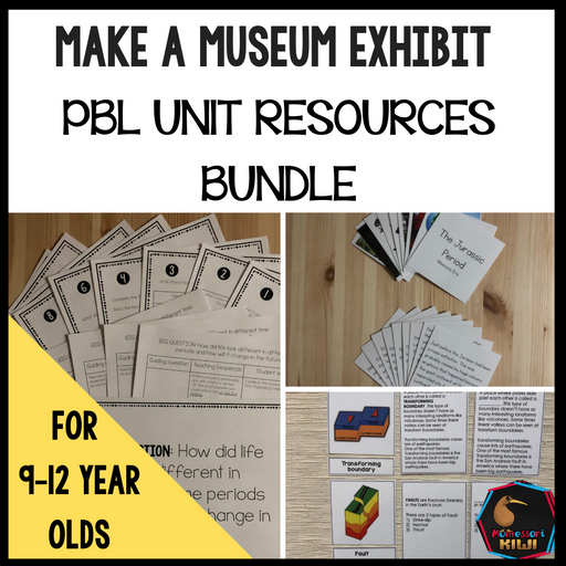 Make a Museum Exhibit: PBL Unit Resources Bundle - montessorikiwi