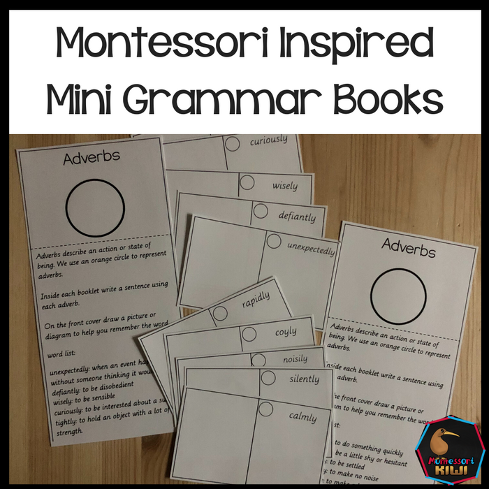 Montessori Inspired Mini Grammar Books - montessorikiwi