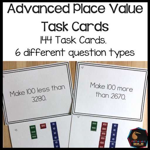 Advanced Place Value Task Cards - montessorikiwi