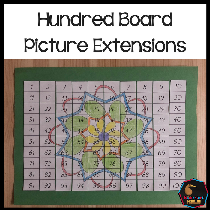 Hundred Board Picture Extensions - montessorikiwi