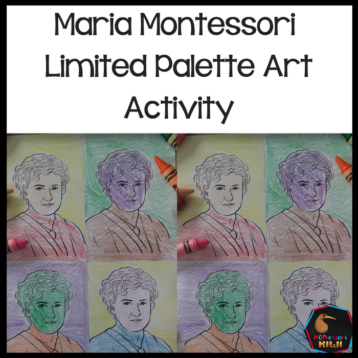 "Maria Montessori ""Pop Art"" Activity - montessorikiwi"