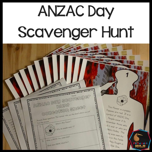 ANZAC Day Scavenger Hunt - montessorikiwi