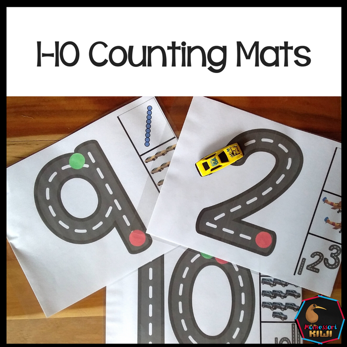1-10 Counting Mats - montessorikiwi