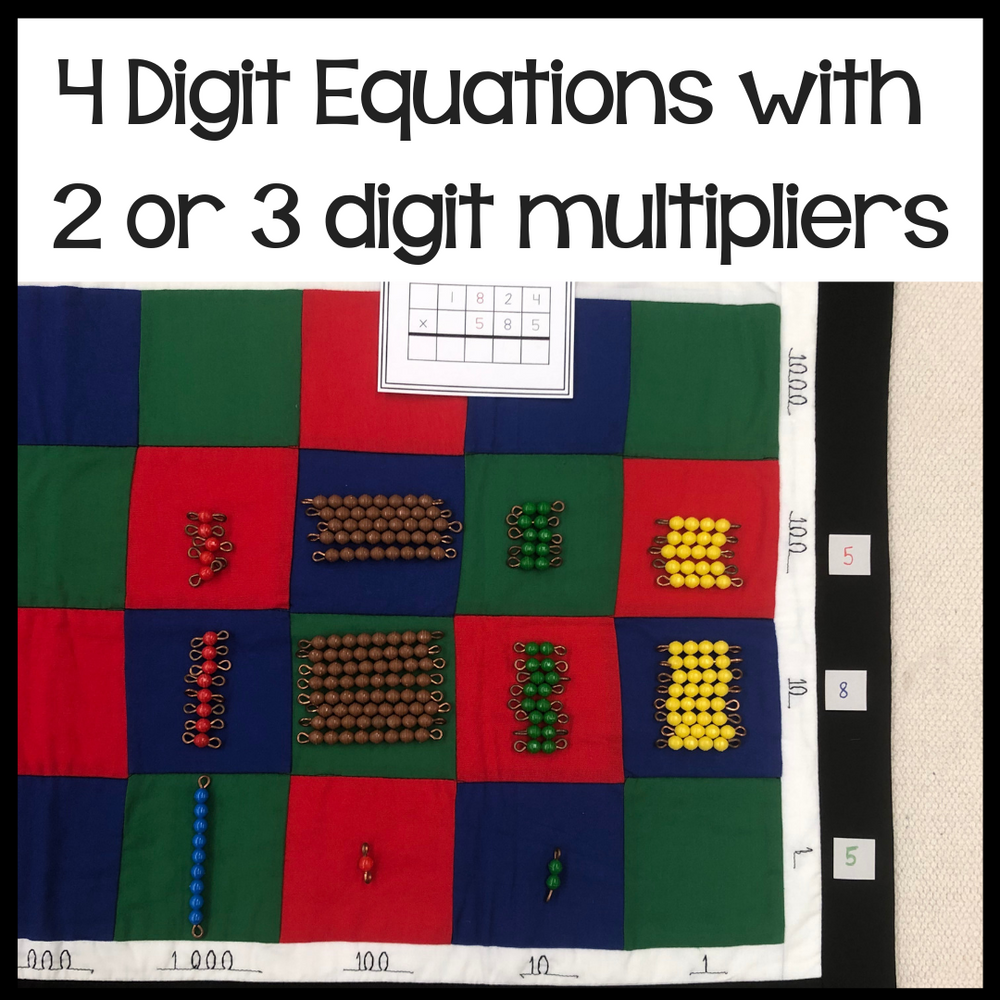Multiplication questions: 2 and 3 digit multipliers - montessorikiwi