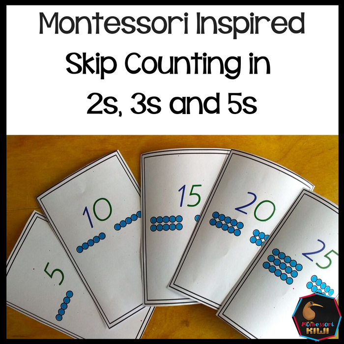 Montessori Inspired skip counting in 2s, 5s, 10s - montessorikiwi