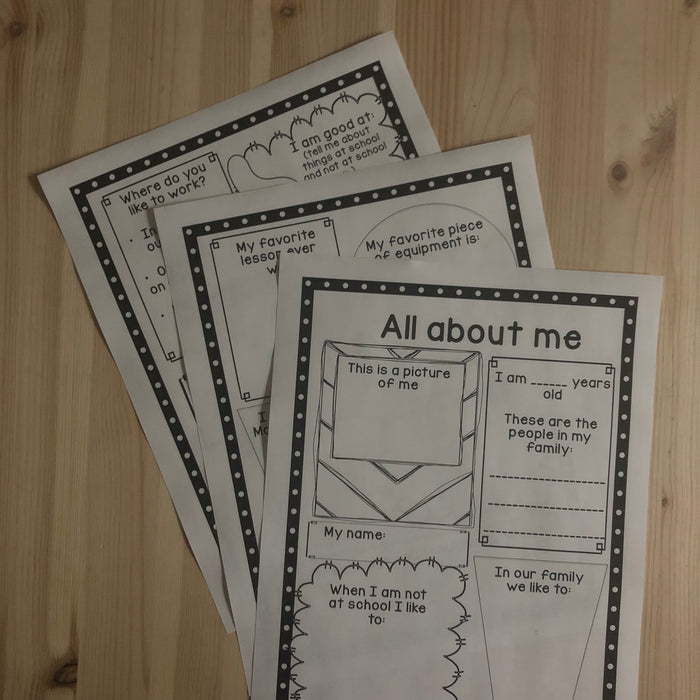 Montessori back to school - all about me - montessorikiwi