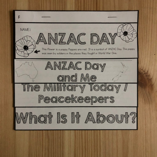 ANZAC Day Flipbook - montessorikiwi