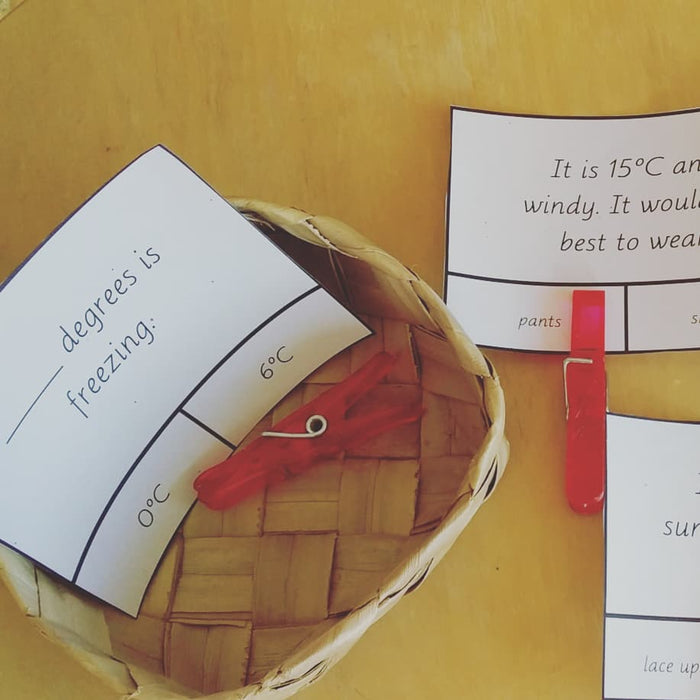 Montessori Measurement: Temperature - montessorikiwi