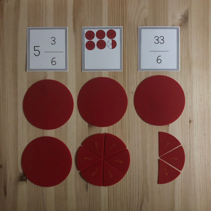 Improper Fraction match up - montessorikiwi