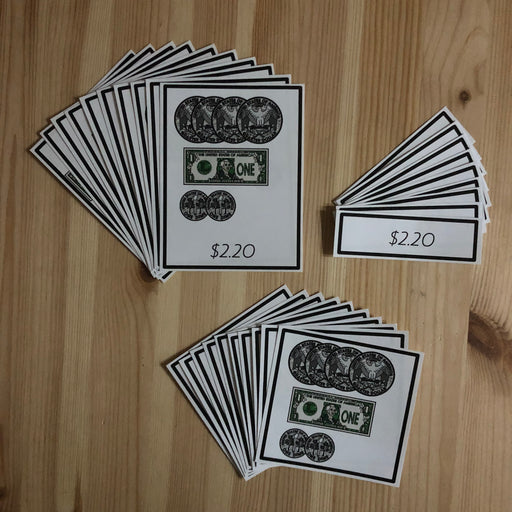 US Money Count The Amount Of Money 3 Part Cards - montessorikiwi