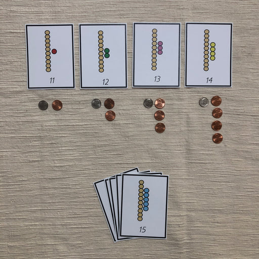 US Money Colored Bead to coin Match 11-19 - montessorikiwi