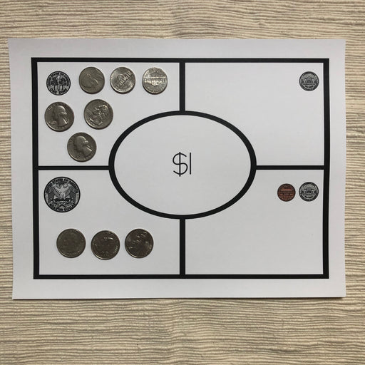 US Money Open Ended Money Mats - montessorikiwi