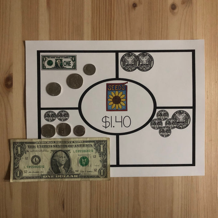 US Money Gardening Money Mat - montessorikiwi