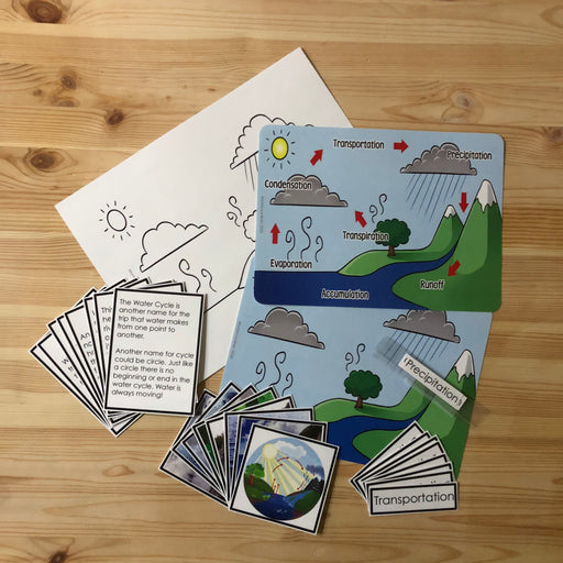 Water Cycle 3 Part Cards - montessorikiwi