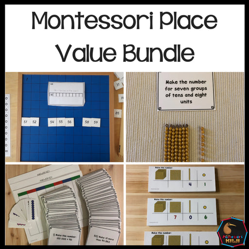 Place Value Bundle - montessorikiwi