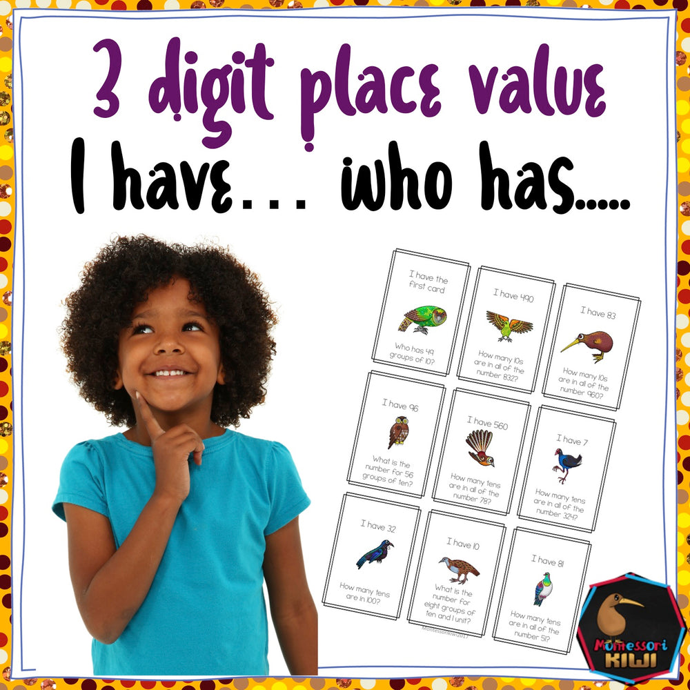 Maths Game: Stage 5 'I have, who has' - montessorikiwi