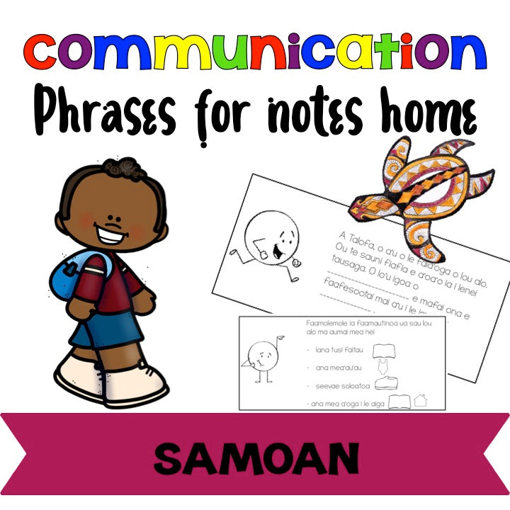 Samoan phrases for communication with parents - montessorikiwi