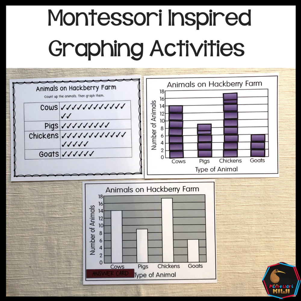 Self Correcting independent Graphing activities - montessorikiwi
