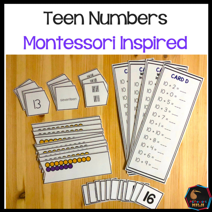 Montessori Teen Numbers - montessorikiwi