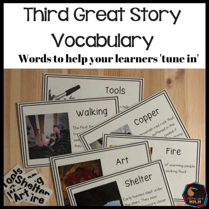 Vocab words for Third Great Story - montessorikiwi
