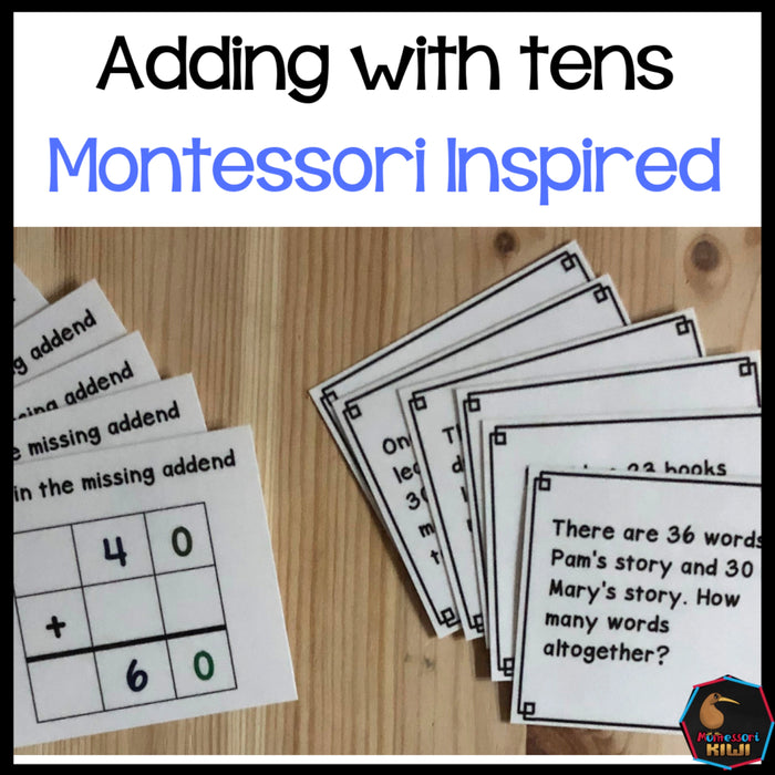 Montessori math: Adding with 10s Golden Beads and Stamp Game - montessorikiwi