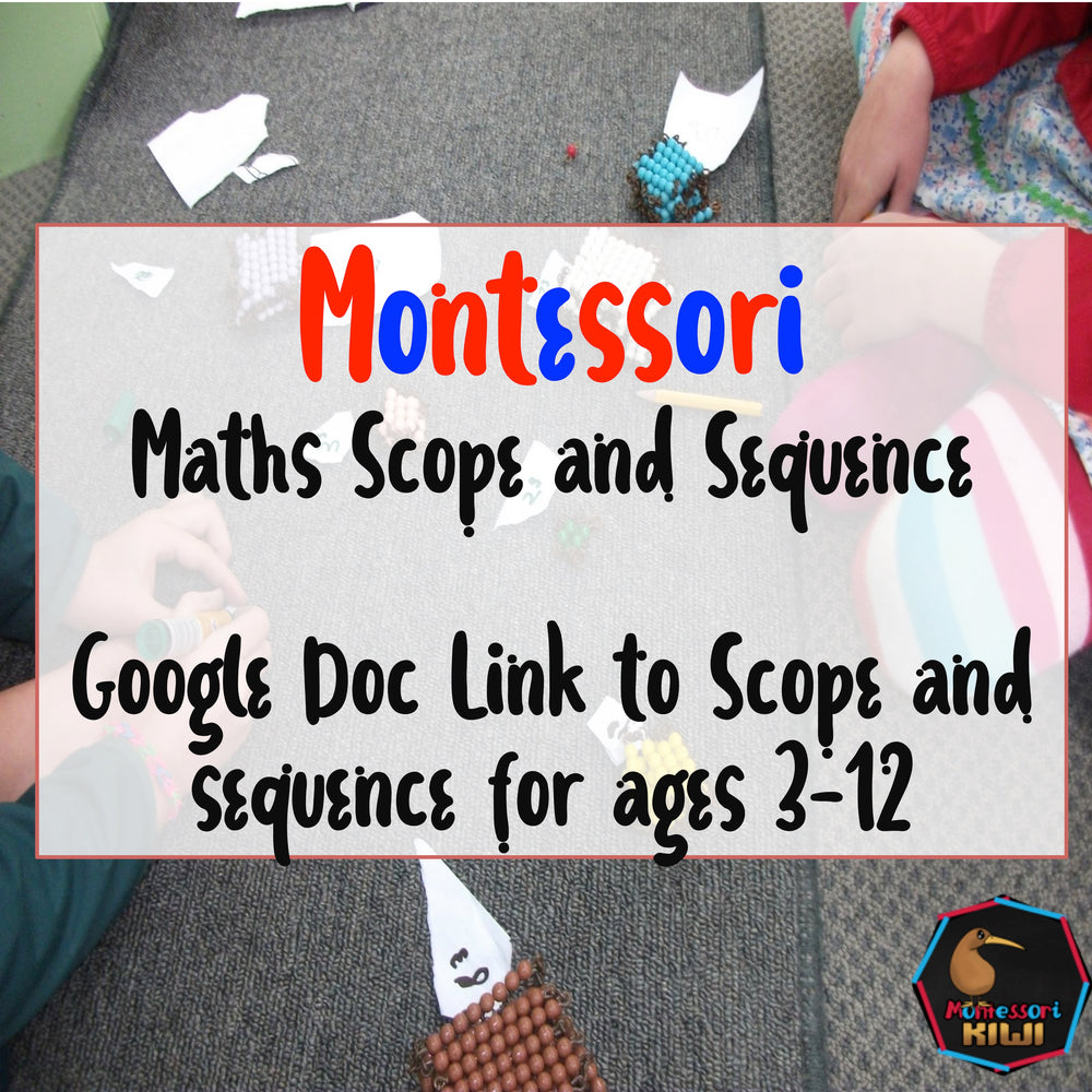 math scope and sequence - montessorikiwi