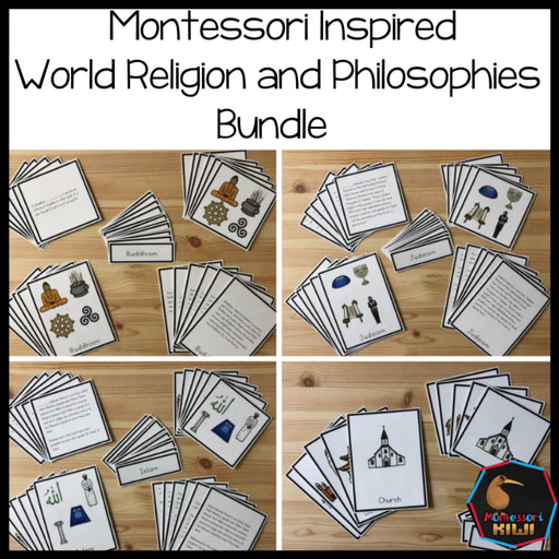 World Religion and Philosophies Bundle - montessorikiwi