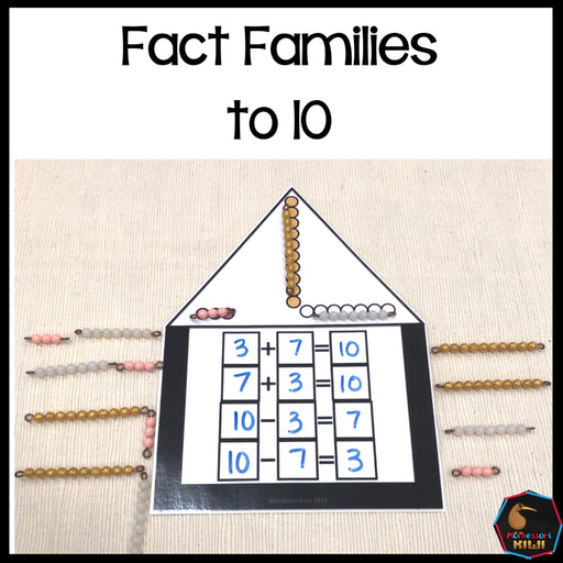 Colored Bead Fact Families to 10 - montessorikiwi