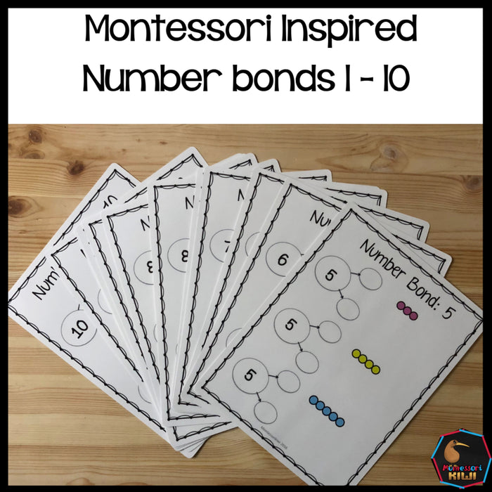 Montessori Number Bonds to 10 - montessorikiwi