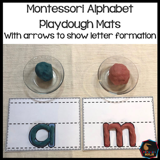Alphabet Playdough Mats - montessorikiwi
