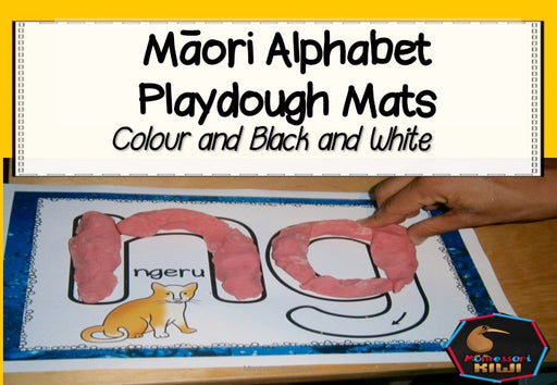Maori Alphabet Playdough Mats - montessorikiwi
