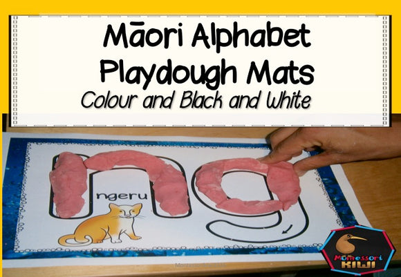 Maori Alphabet Playdough Mats