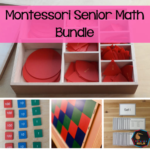 Montessori Senior Math Bundle - montessorikiwi