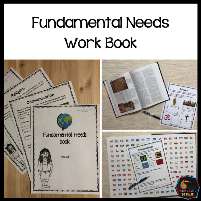 Fundamental Human Needs Student Workbook - montessorikiwi