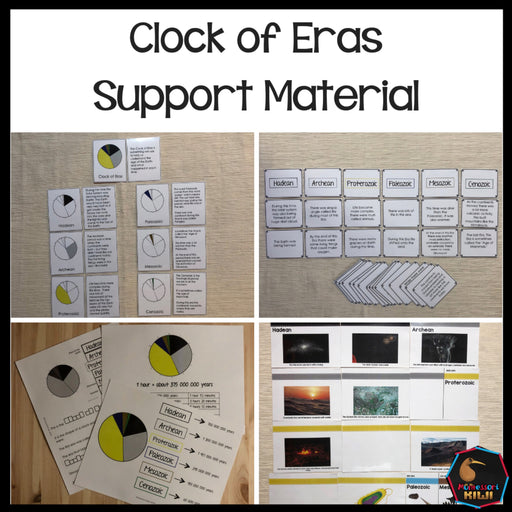 Clock of Eras Support Material Bundle - montessorikiwi