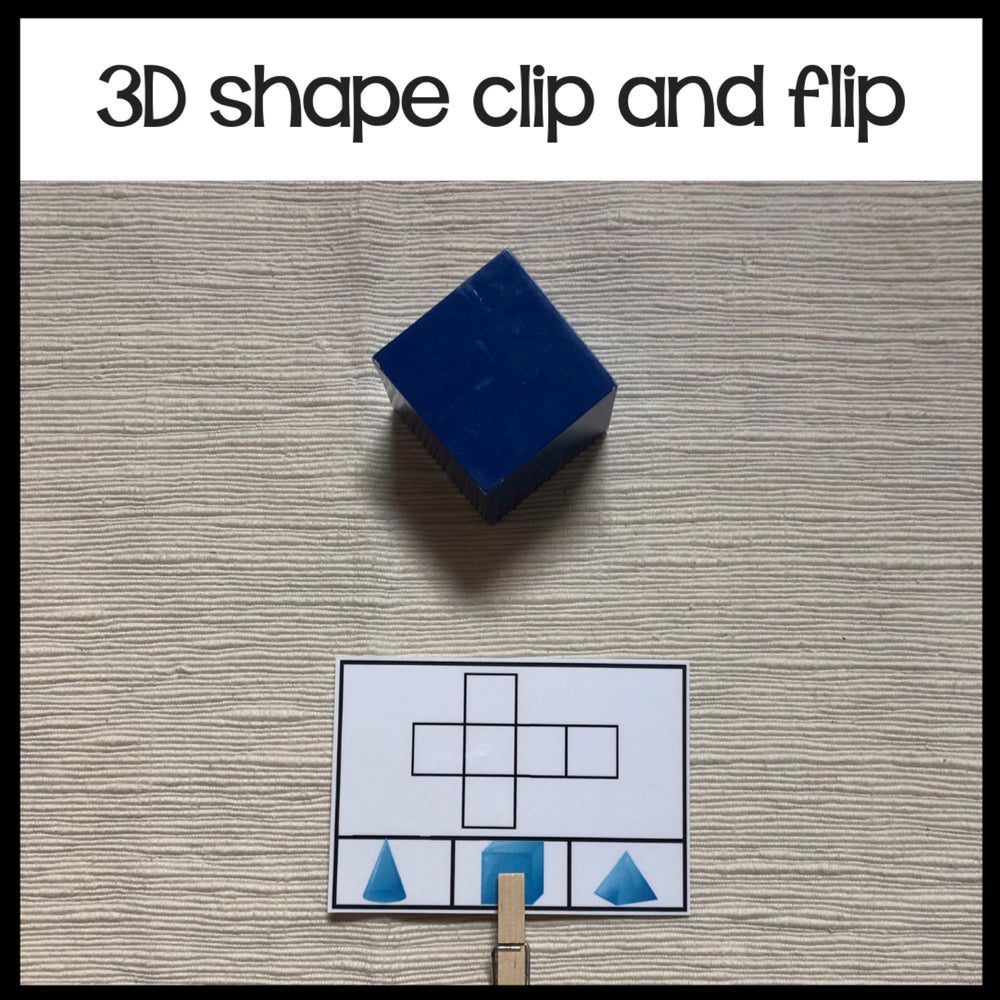 3d shapes nets clip and flip - montessorikiwi
