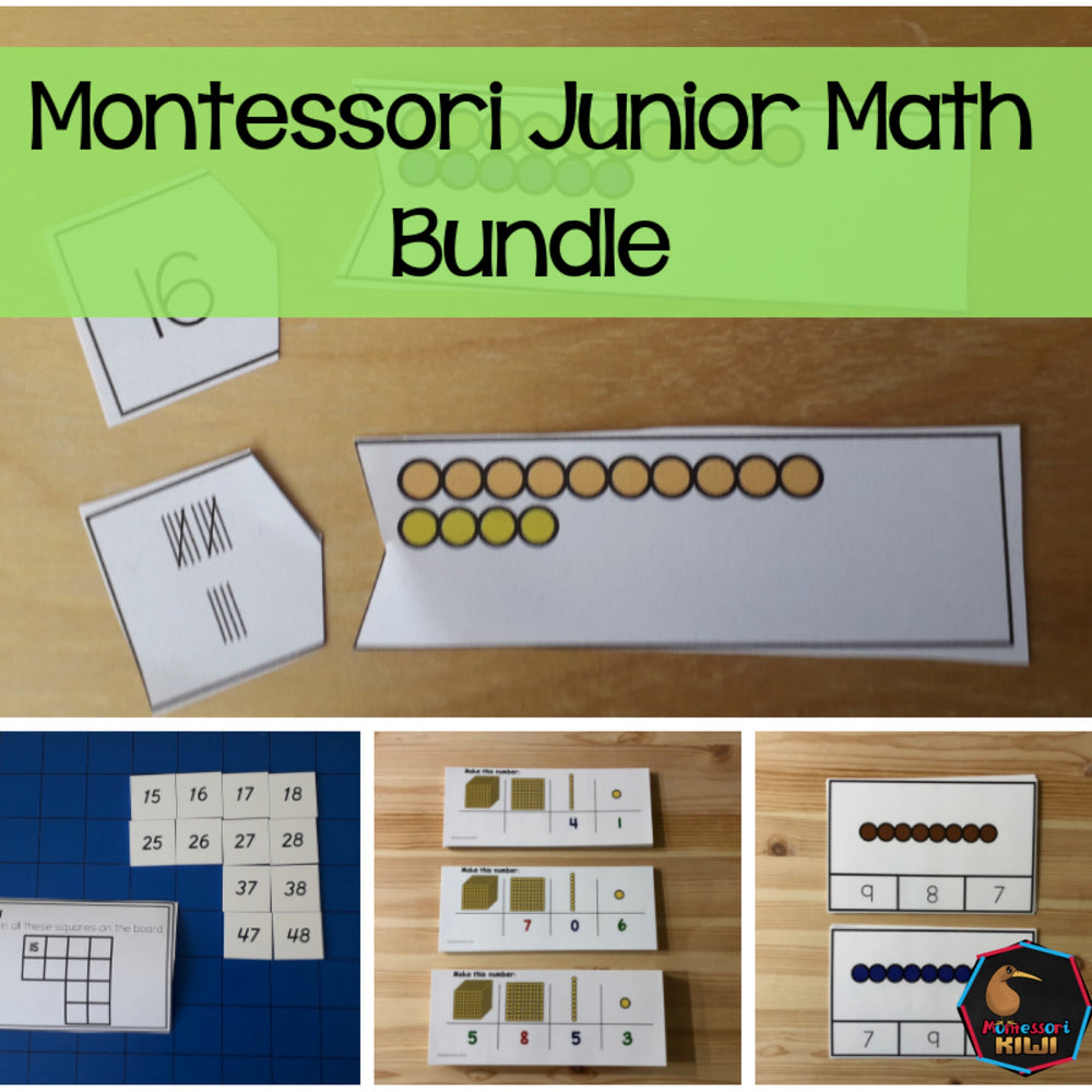 Montessori Junior Math Bundle - montessorikiwi