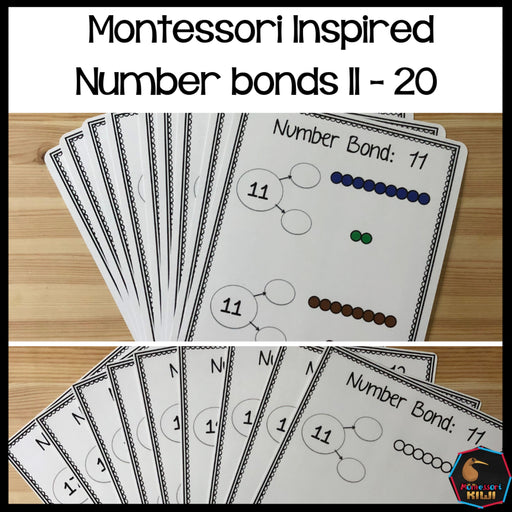 Montessori Number bonds 11-20 - montessorikiwi