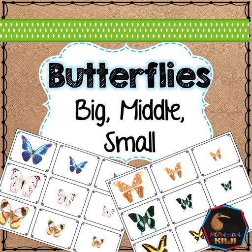 Butterfly Spring Themed Math Sorting - montessorikiwi