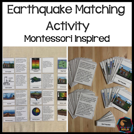 Earthquake Matching Cards - montessorikiwi