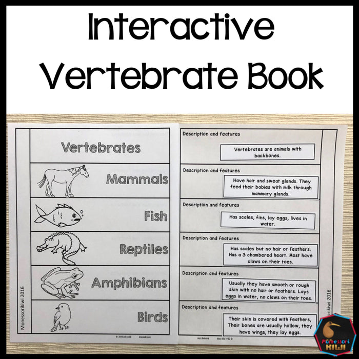 Vertebrate Book - montessorikiwi