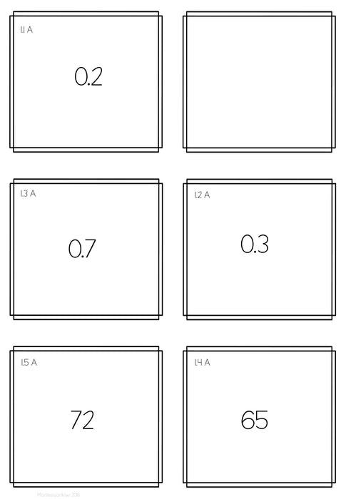 Decimal Task Cards - montessorikiwi