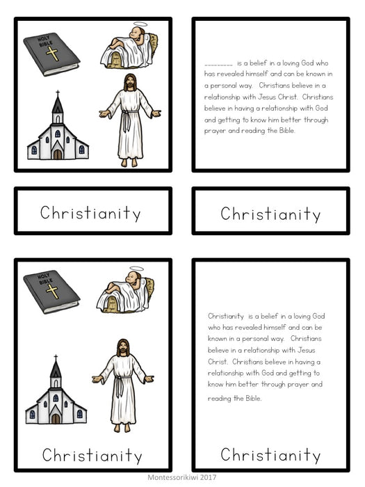 Christianity 5 part cards - montessorikiwi