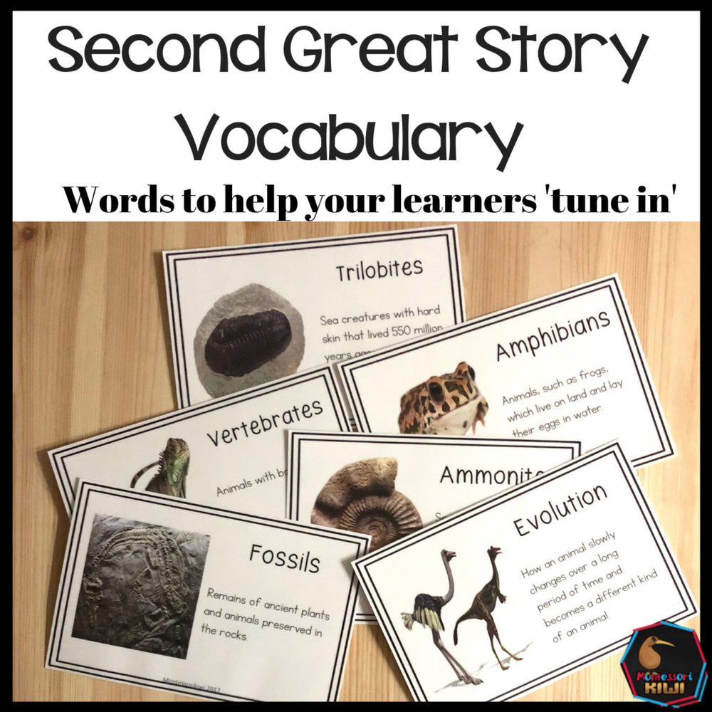 Vocab words for Second Great Story - montessorikiwi