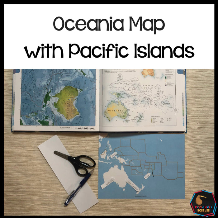 Maps of Oceania / Pacific Islands - montessorikiwi